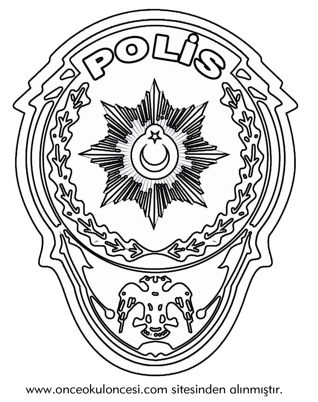 Polis Rozeti Boyama Sayfasi