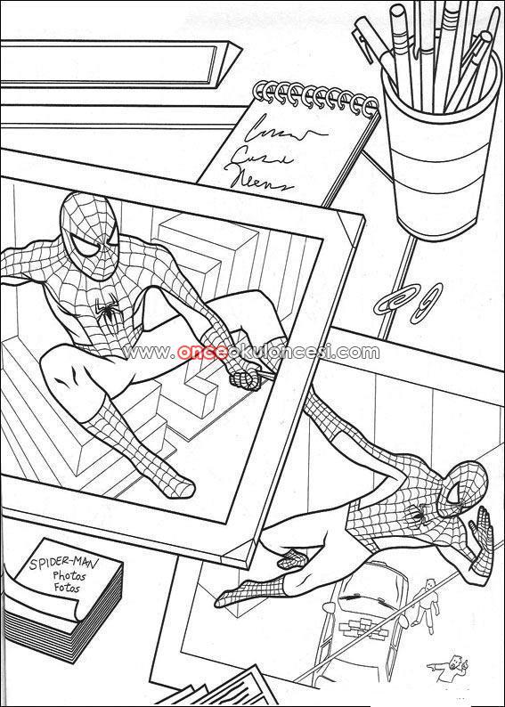 Spiderman Boyama Sayfalarım