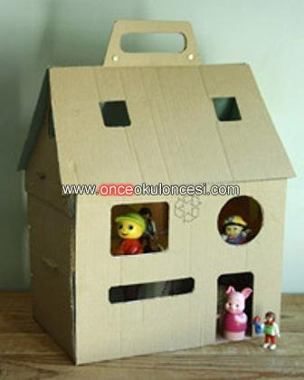 Kutu evler - Patron maison en carton ...