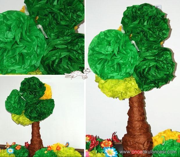 3 Boyutlu Ağaç Ve çiçek