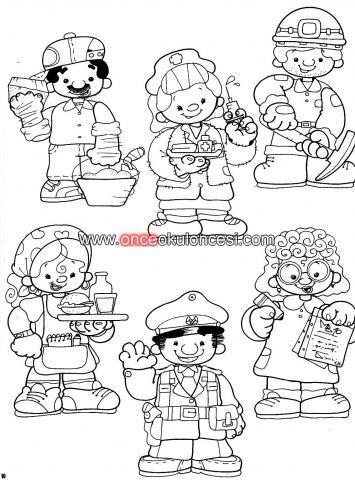 Meslekler Ile Ilgili Boyama Sayfalari Karikaturler 4pics De