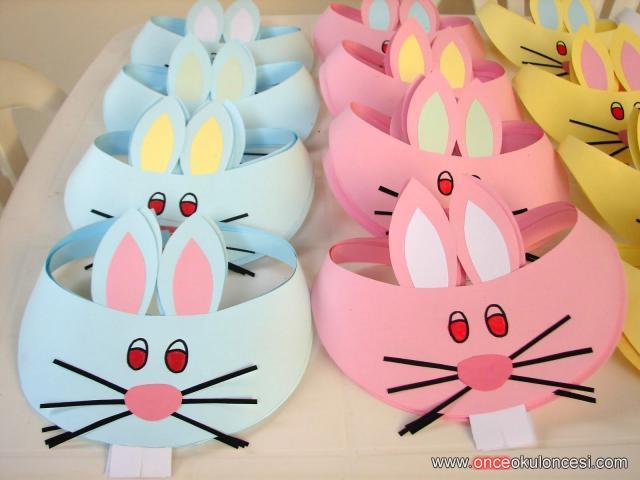 Kalıplı Tavşan çocuk şapkası