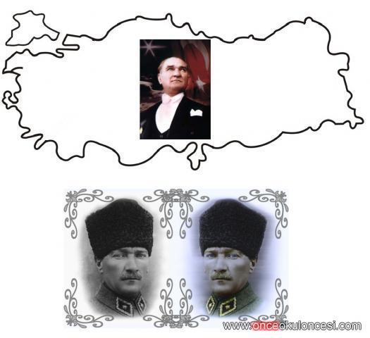 Ataturk Ve Turkiye Haritasi