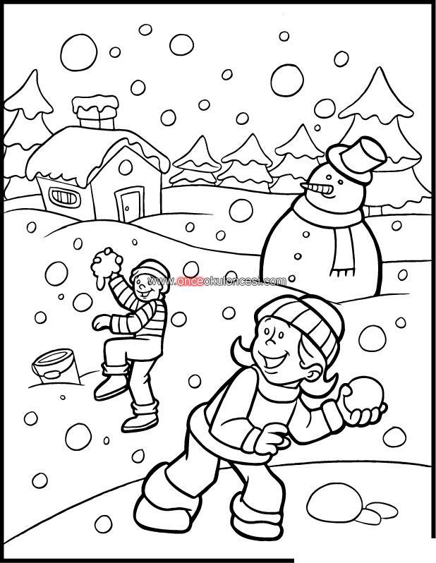 Kış Mevsimi Boyama Sayfası Gazetesujin