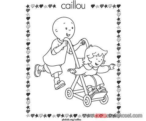 Caillou Boyama Gittigidiyor
