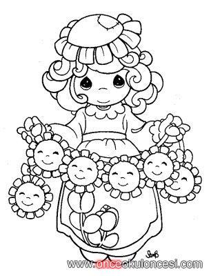 Kız çocuğu Boyama Sayfaları