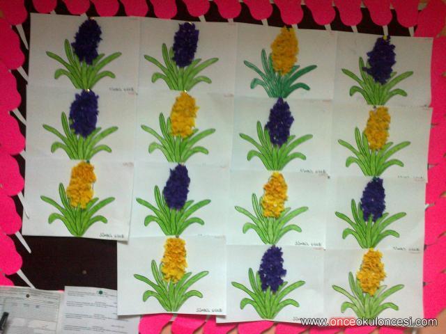 Sümbül çiçeğimiz Kalem Ucu Tekniği Ile