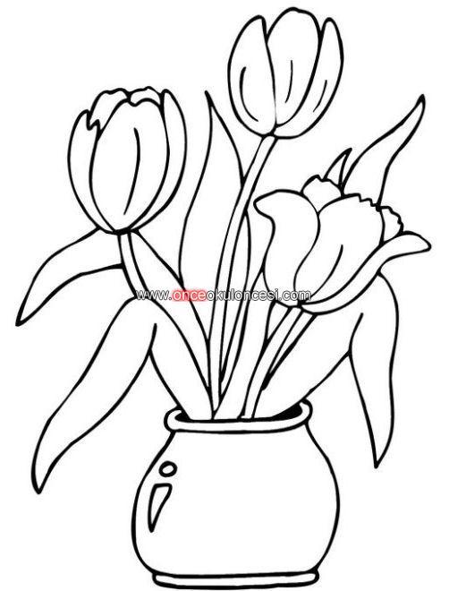 Boyama Yapılcak çiçek