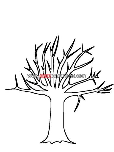 Ağaç Ve Yapraklarıboyakesyapıştır