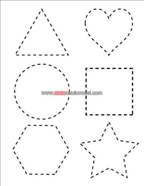 Boya Ciz Tamamla Geometrik Sekiller