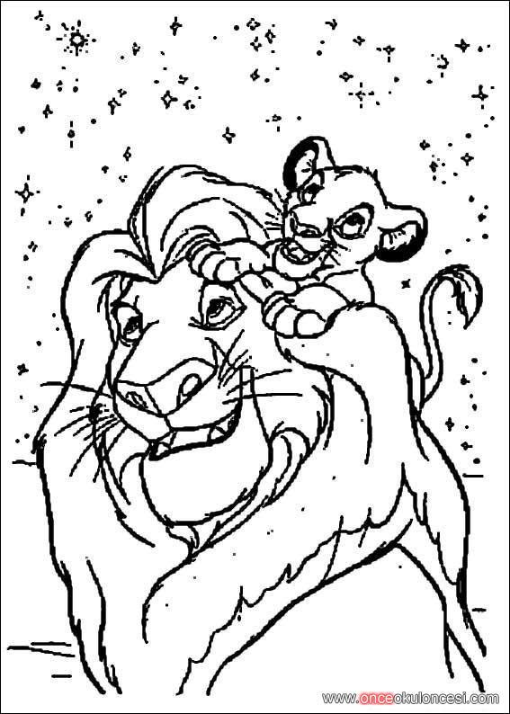 Aslan Krallion King Boyama Sayfaları 92 Adet