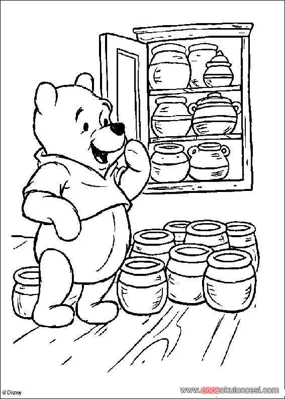 Winnie Pooh Boyama Sayfaları 74 Adet