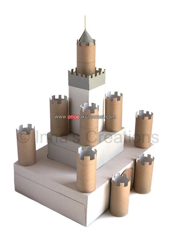 Бумажные замки своими руками фото