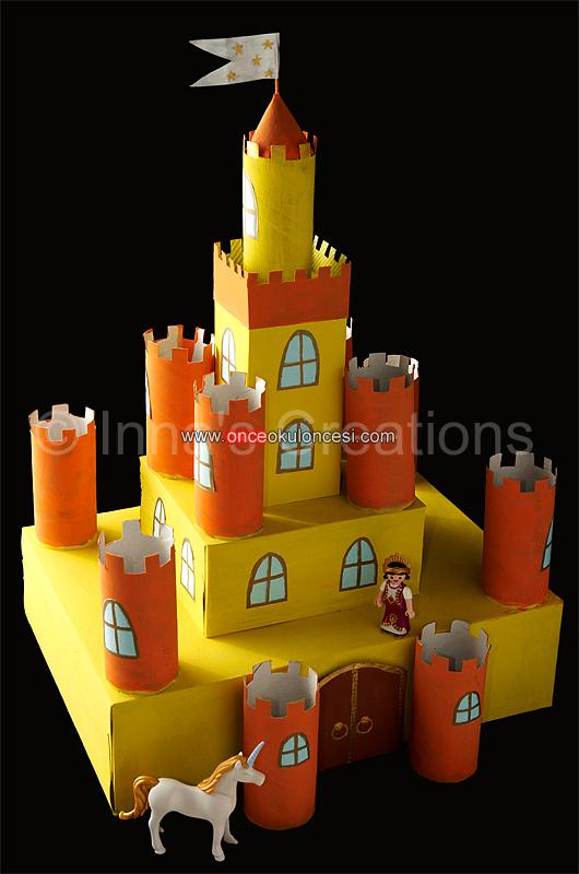 Замок из картонных коробок своими руками схема