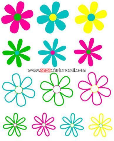 Renkli Cicek Kaliplari