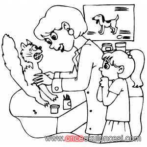 Hayvanlarhayvan Sevgisiveterinerler Boyama Sayfaları