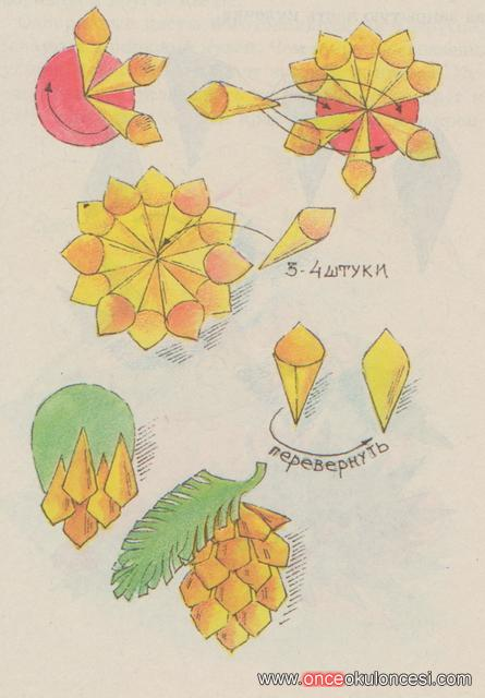 Аппликации цветов из цветной бумаги своими руками пошаговая инструкция