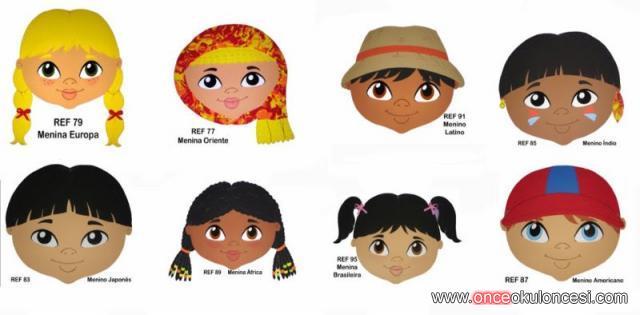 Dünya çocukları Renkli