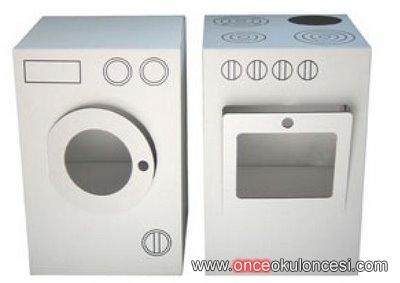 Karton Kutudan çamaşır Makinesi Ve Fırın