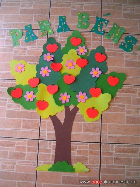 Duvar süsü elma ağacı