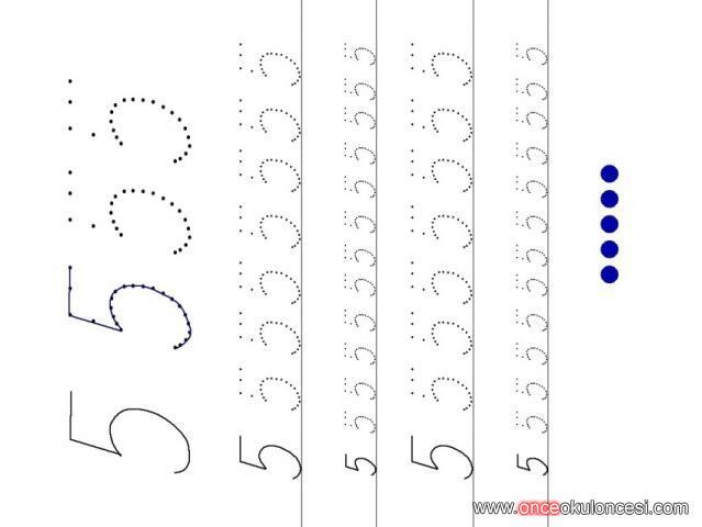 012345 Sayıları Ile çizgi çalışması