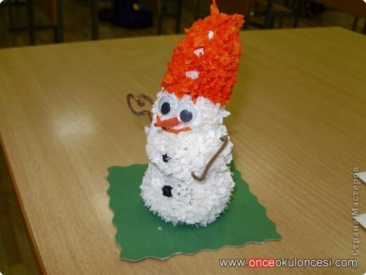 Снеговик торцеванием мастер класс