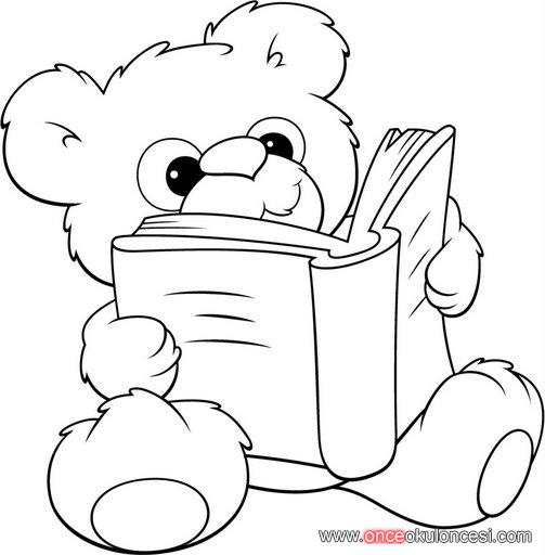 Kitap Kosesi Icin Kitap Okuyan Hayvanlar Ve Cocuklar Boyama Sayfasi