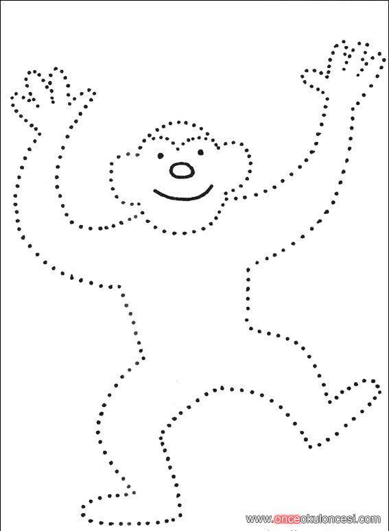 çizgileri Tamamla Boya Maymun