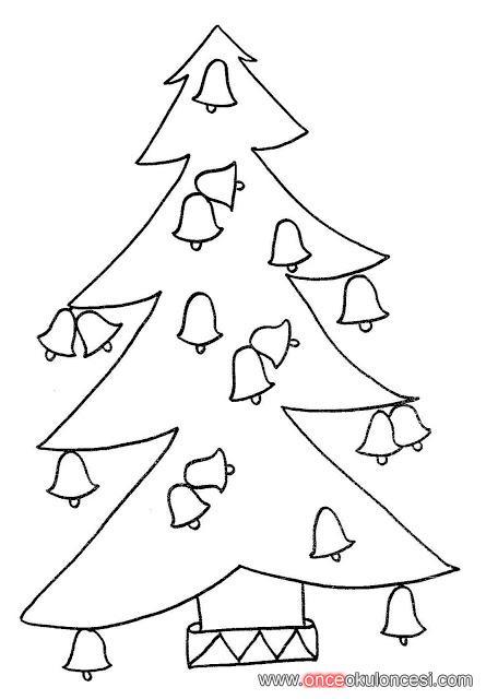 Yeni Yıl Ağaçları Boyama Sayfaları