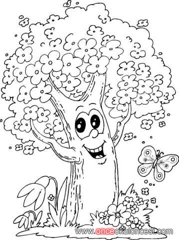 Ağaç Boyama Resmi