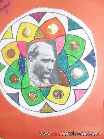 Mandala Boyama Ile Ataturk Resimleri