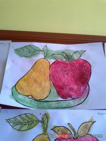 Elma Armut şeker Boya