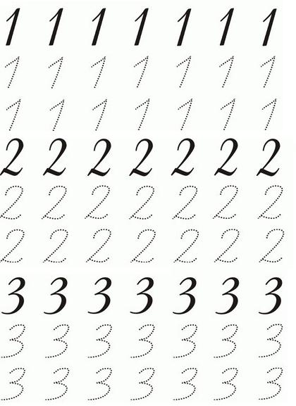 123 Rakamlari Calisma Sayfalari