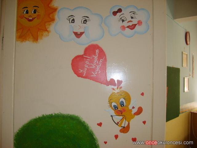 Yağlı Boya Ile Boyanmış Sınıf Kapı Resimleri