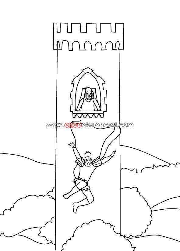 【Taze】 Rapunzel Boyama Oyunları