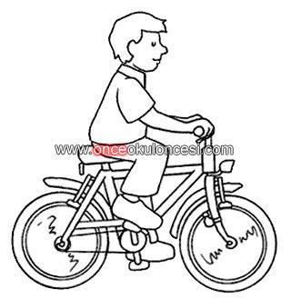 Kara taşıtları Andar En Bicicleta Para Colorear