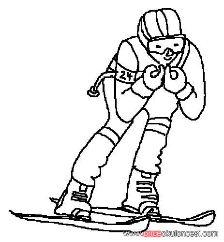downhill skiing coloring pages - photo#24