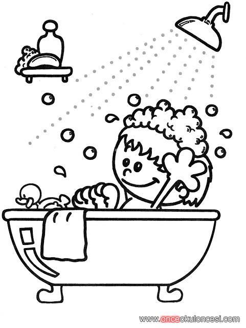 Banyo Yapıyoruz Temiz Oluyoruz Boyama