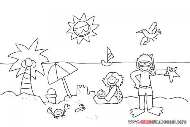 Yaz Mevsimi Ile Ilgili Bircok Boyama