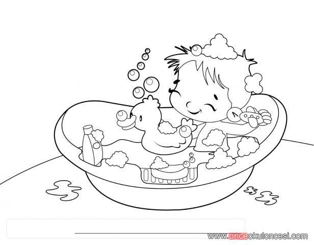 Banyo Yapıyorum Iki Boyama
