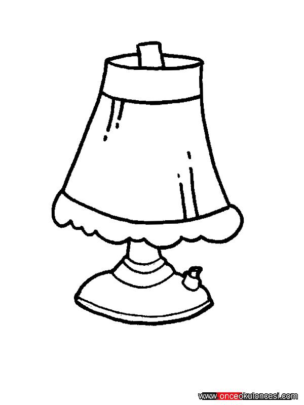 Картинки раскраска лампа