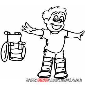 Tekerlekli Sandalye Ve Engelli çocuklar