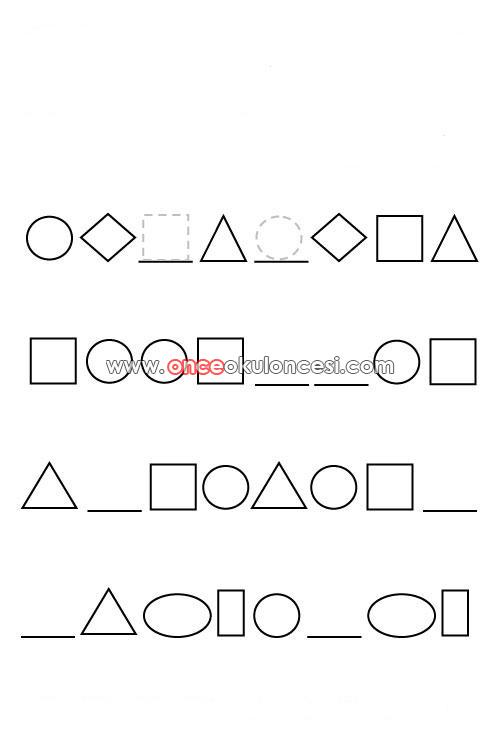 Basitten Zora Geometrik Sekillerle Oruntu