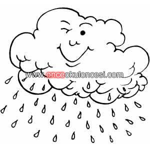 Yağmur şemsiye Boyama Preschool Activity