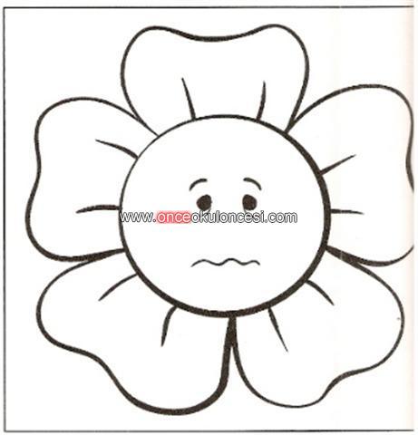 Duygular Ve Yüz Ifadeleri çiçek şeklinde