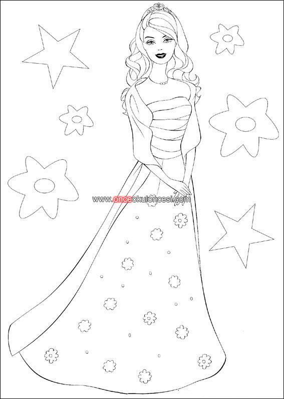 Prenses Ve Deniz Kizi Boyamalari