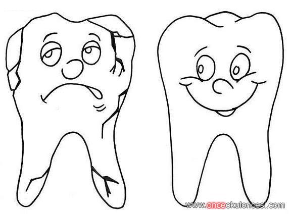 Diş Sağlığı Ile Ilgili Boyamalar