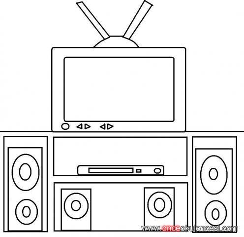 Televizyon Boyama Sayfası Gazetesujin