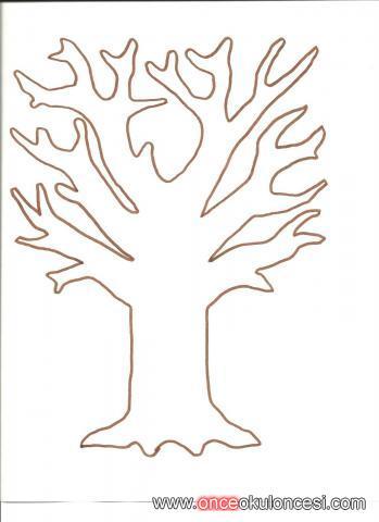 Kalıplı Sonbahar Ağacı