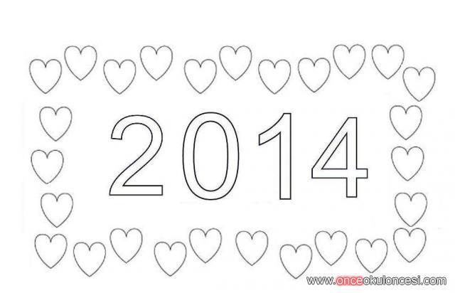 2014 Yeni Yıl Boyama Sayfası